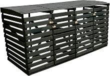 promadino Mülltonnenbox, für 4x240 l aus Holz,