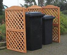 promadino Mülltonnenbox Rex, Abtrennung, für 2 x
