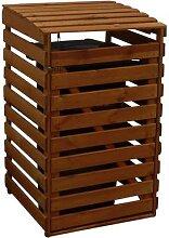 PROMADINO, Mülltonnenbox Vario 4, aus Holz,