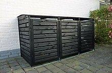 Promadino Mülltonnenbox Vario III für 3 Tonnen,