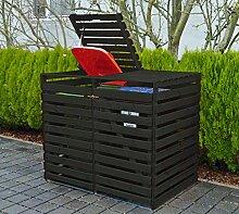 Promadino Mülltonnenbox Vario V für 2 Tonnen