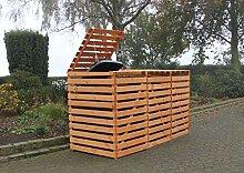 Promadino Mülltonnenbox Vario V für 3 Tonnen,