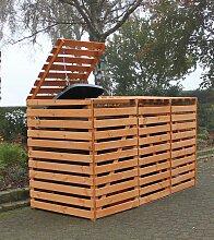 promadino Mülltonnenbox Vario V, für 3 x 240 l,