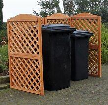 Promadino Mülltonnenspalier Rex für 2 Tonnen