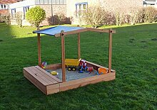 Promadino Sandkasten Multi + Sitzbox + Sonnendach