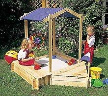 Promadino Sandkasten Peter mit Sitz- und Bugbox