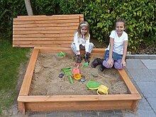 Promadino Sandkasten Tessa 120 mit Vollabdeckung