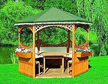 PROMADINO SET Pavillon PALMA + Foliendach grün Komplettset 308x308x260cm 504130
