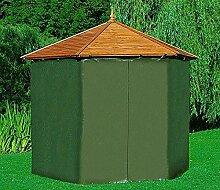 PROMADINO Wetterschutzumhang für Pavillon PALMA Grün Gartenlaube