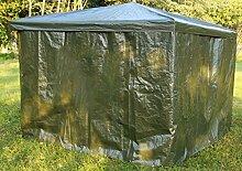 Promadino Wetterschutzumhang grün für Pavillon