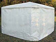 Promadino Wetterschutzumhang weiß für Pavillon