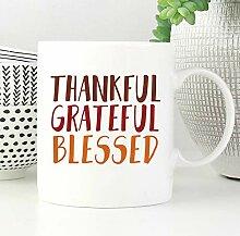Promini Dankbar Dankbar Gesegnete Becher Geschenk