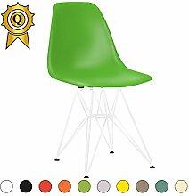 Promo 6x Stuhl Design Inspiration Eiffel Füße Stahl Nagellack weiß Sitzfläche mobistyl® dsrw-m-6 Green Flash