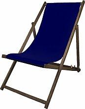 Promo Trade GmbH Liegestuhl Holz dunkelblau 138 x