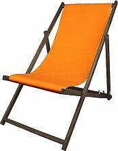 Promo Trade GmbH Liegestuhl Holz orange 138 x 59 x