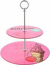 Promobo Knecht Doppel Tablett Etagere Dessert Pub