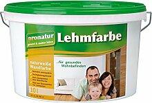 pronatur Lehmfarbe Naturfarbe Wandfarbe weiß 10l