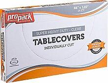 Propack Einweg-Tischdecken, schwer, transparent,