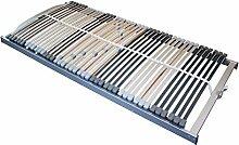 Prosanvita Lattenrost Silima nv, mit 42 starken vorgewölbten Federholzleisten, verschiedene Größen, individuell Härteverstellbar, Größe: 120x200