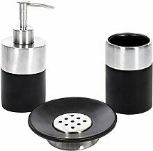 Protenrop 9907 - Reihe  von bad-accessoires, 3-teilig, farbe: schwarz