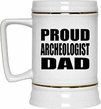 Proud Archeologist Dad - Beer Stein Bierkrug
