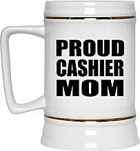 Proud Cashier Mom - Beer Stein Bierkrug Keramik