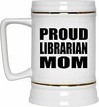 Proud Librarian Mom - Beer Stein Bierkrug Keramik