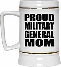 Proud Military General Mom - Beer Stein Bierkrug