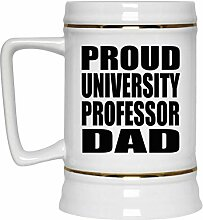 Proud University Professor Dad - Beer Stein