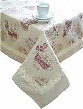 Provence Tischdecke aus Baumwolle, französischer