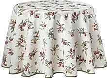 Provence-Tischdecke, Natur Oliven, pflegeleicht,