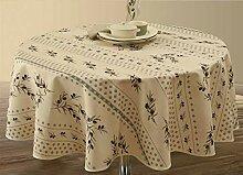 Provence-Tischdecke Olivette Ecru, rund ca. 160