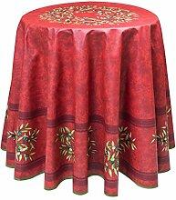 Provence-Tischdecke rund ca. 180 cm Maussane