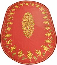 Provencestoffe.com Abwaschbare Tischdecke Oval,