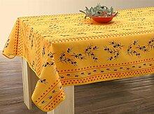 Provencetischdecke, ca. 240x150 cm, gelb-rot mit
