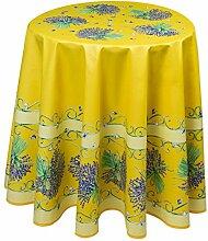 Provencetischdecke, gelb mit Lavendel, 180 cm