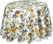 Provencetischdecke, rund, ca. 180 cm, Fruit,