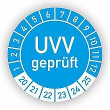 Prüfplaketten - UVV geprüft / 2020-2025 -