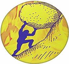 Prüfung Stein Druck rund Mandala Tapisserie Hippie, Hippie-Stil, Überwurf Betten Tagesdecke, Gypsy, zum Aufhängen Indianer Boho Gypsy Baumwolle Tischdecke Strandtuch, dekorativer Wandschmuck, rund Meditation Yoga Matte, multi, 101,6 cm