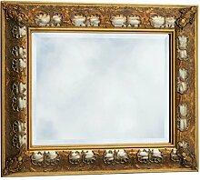 Prunkrahmen zweifarbig Wandspiegel Barock gold silber Kristallspiegel 60x90