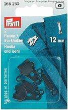 Prym Hosen- und Rockhaken, schwarz, 12mm