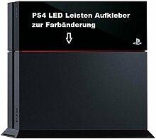 PS4 Lightbar LED Leisten Aufkleber (Rot)