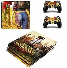 PS4 Pro bunter Aufkleber. Der Griffschutz besteht