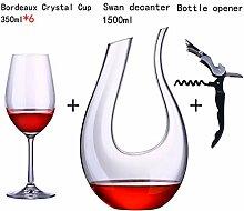 PsetYsail Kristallglas Weinglas Set Startseite