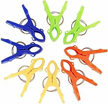 PsmGoods® 8 Pack helle Farbe Strandtuch Clips