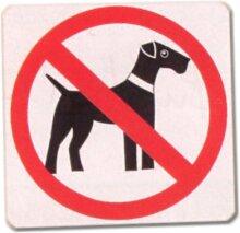 PST-Schild - Verbotsschild - Hund Schild Warnschild Warnzeichen Arbeitssicherheit Türschild Tür Kunststoff Geschenk Geburtstag