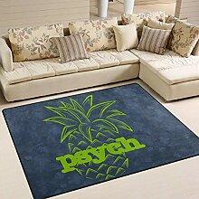 Psych Ananas-Teppich 4 'x 6',