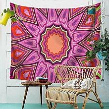 Psychedelic Mandala Wandteppich Indisch Hippie