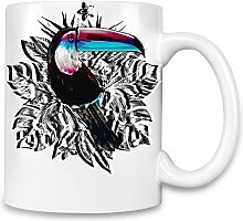 Psychedelic Toucan Kaffee Becher