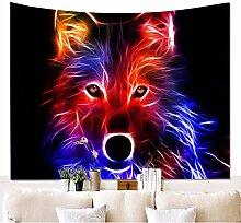 Psychedelisch Weinen Wolf des Mondes Wandteppiche